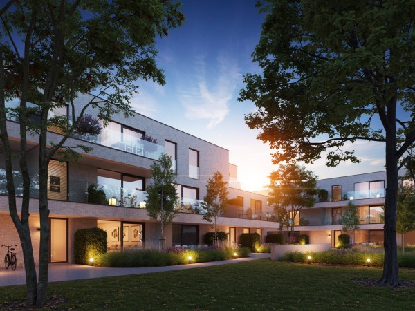 Foto Prachtig woonproject met centrale tuin in hartje Bosmolens