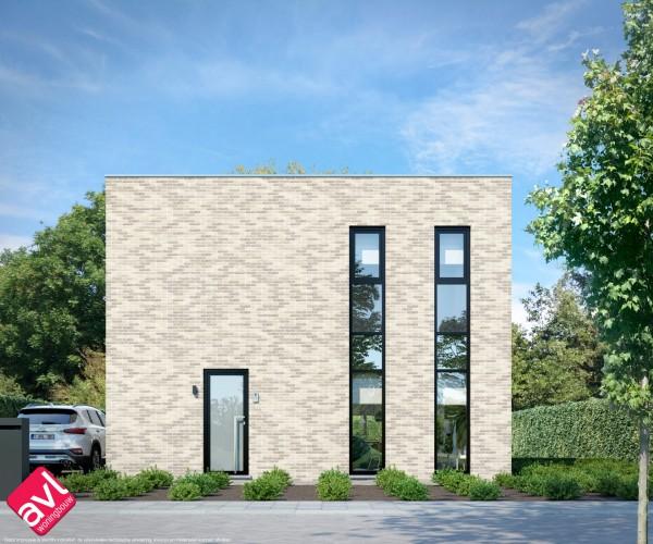 Foto Moderne gezinswoning met plat dak te Scherpenheuvel