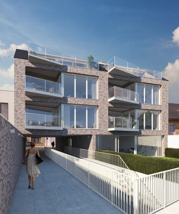 Foto VAN MAERLANT – Nieuwbouw nabij het strand van Blankenberge