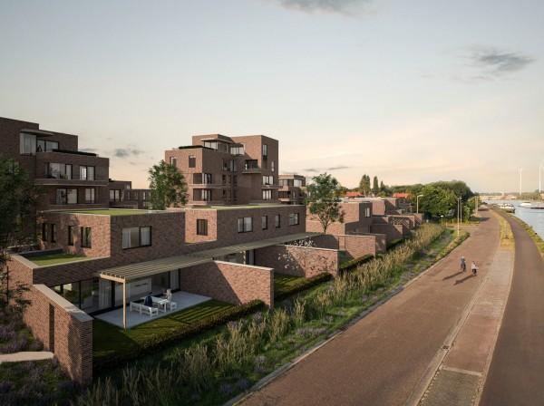 Foto Woningen aan het water en appartementen bij oHase in Hasselt