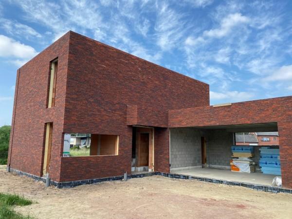Foto Moderne zeer energiezuinige BEN-woning in ruwbouwfase