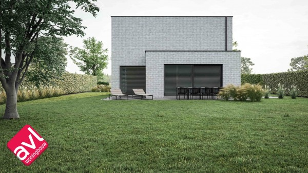 Foto Moderne gezinswoning in open bebouwing te Stokrooi
